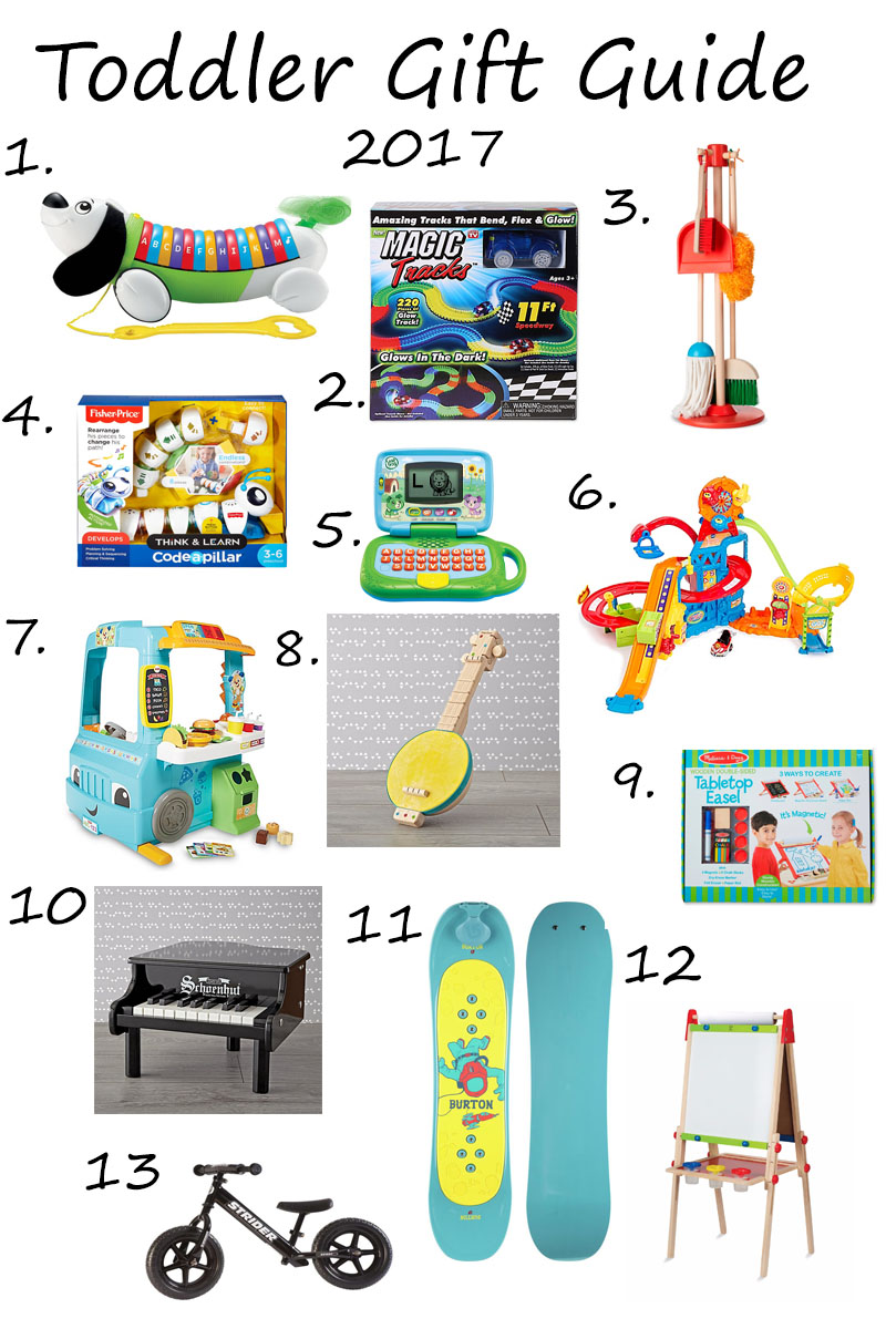 Holiday Christmas Gift Guide for Toddlers